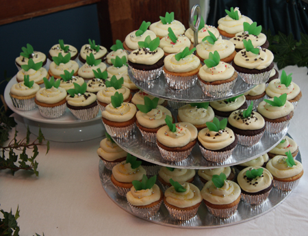 The 72 cupcakes we made for the brother-in-laws weding