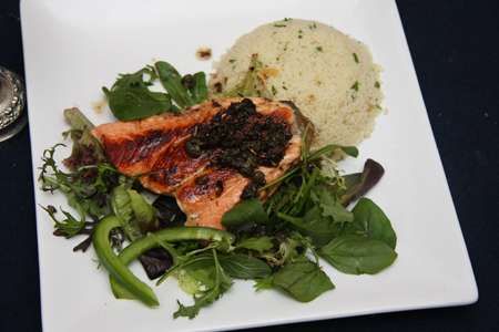 Salmon with couscous