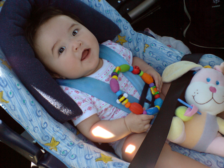 Abby in her carseat