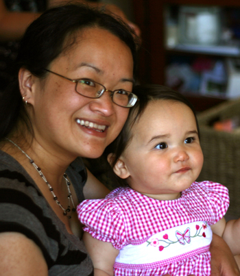 Abby with mum