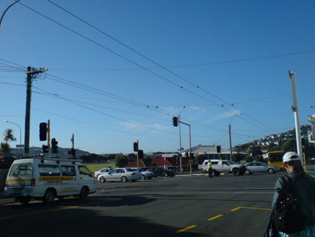 Intersection of Wellington Road, Kilbirnie Terrace and Hamilton Road