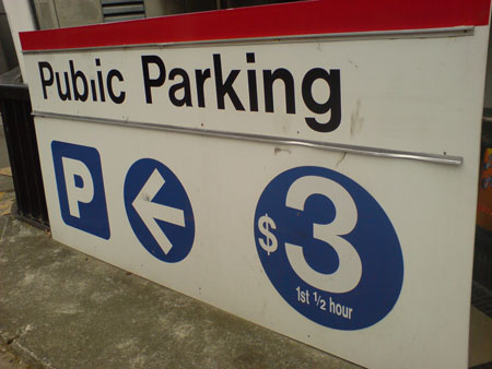 JPG image of a Wilson carpark sign