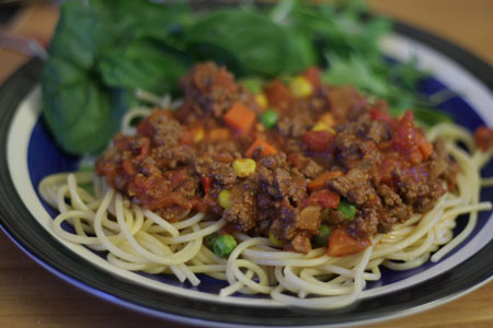 JPG image of a plate of spaghetti bolognese