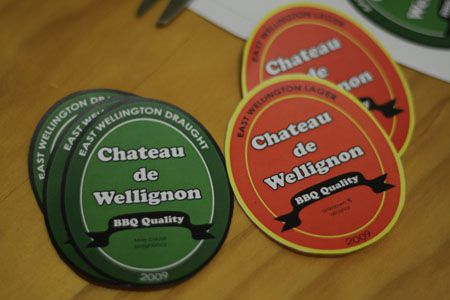 JPG image of homemade beer labels