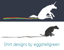 Shirt designs on my Eggshell Green shop