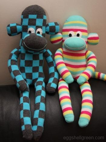 Socky monkeys by Eggshell Green