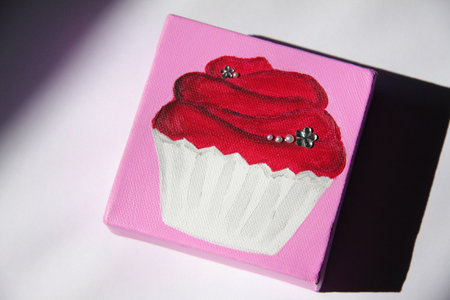 Cupcake painting by Eggshell Green