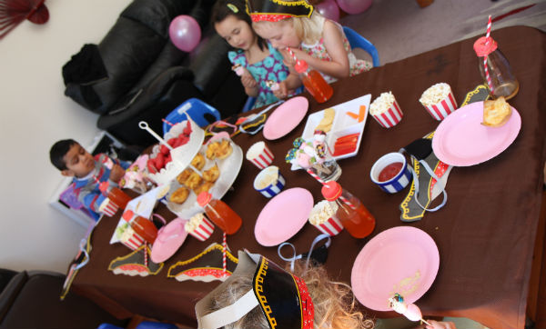 Table set up for pirate party