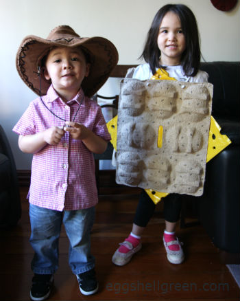 Dressing up as cheese and crackers