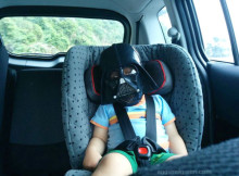 Little Darth Vader turns to the Dark Side