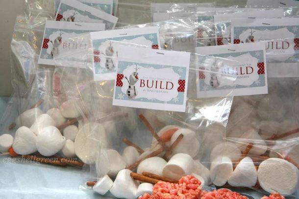 Wanna build a snowman party favour game kit