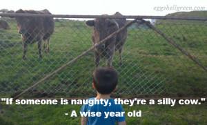 Staring at cows.